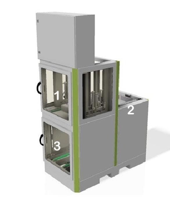Traystpler-Magazinierer für automatisierte Teile Bereitstellung